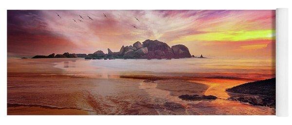 Incoming Tide At Sunset Yoga Mat