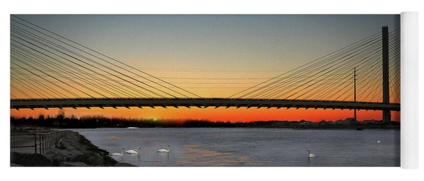 Yoga Mat featuring the photograph Indian River Bridge Over Swan Lake by Bill Swartwout Fine Art Photography
