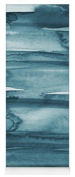 Indigo Water- Abstract Painting Yoga Mat