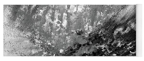 Indistinct - Gray Abstract Art Yoga Mat