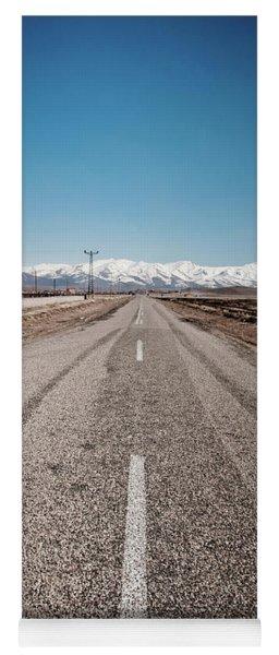 infinit road in Turkish landscapes Yoga Mat