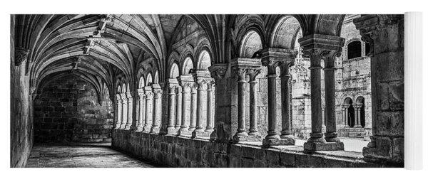 Interior Corridors Of The Monastery Of Santo Estevo De Ribas Del Sil Yoga Mat