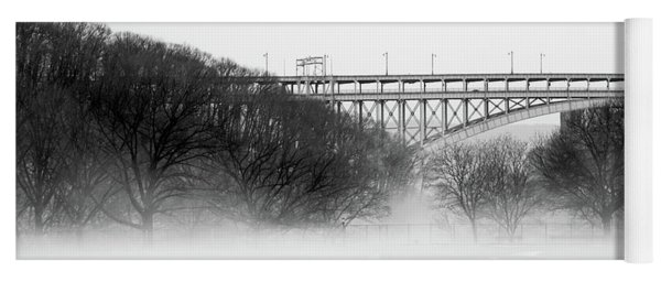 Inwood Hill With Fog Yoga Mat
