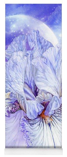 Yoga Mat featuring the mixed media Iris - Goddess Of Dreams by Carol Cavalaris