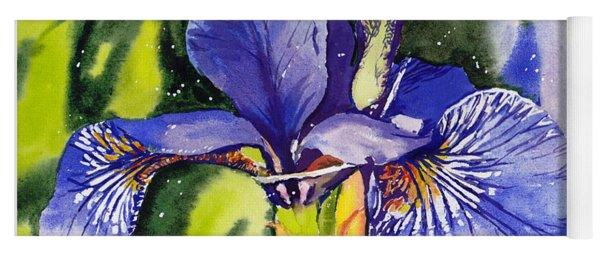 Iris In Bloom Yoga Mat