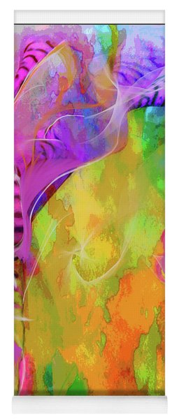 Yoga Mat featuring the digital art Iris Psychedelic  by Cindy Greenstein