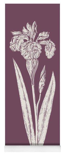 Iris Purple Flower Yoga Mat