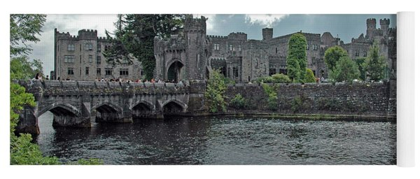 Yoga Mat featuring the photograph Irish Castle by Mark Duehmig