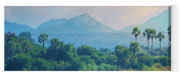 Irrawaddy Landscape Yoga Mat