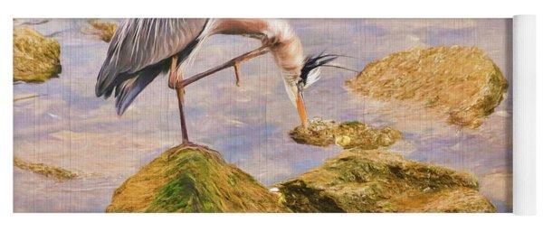 Itchy  Neck Heron Yoga Mat