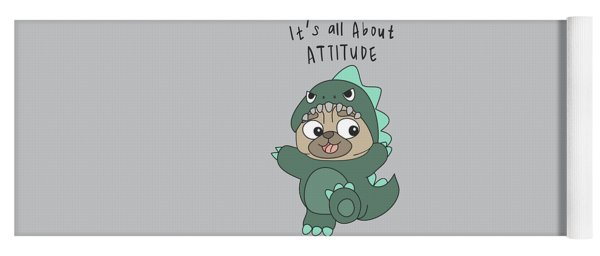 It's All About Attitude - Baby Room Nursery Art Poster Print Yoga Mat