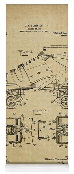 J. L. Plimpton, Roller Skate, Patented Dec.8,1908. Yoga Mat