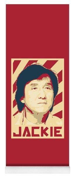 Jackie Chan Retro Propaganda Yoga Mat