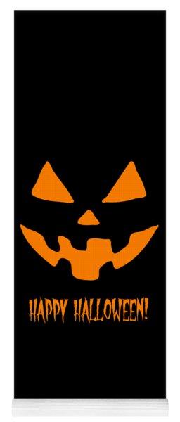 Jackolantern Happy Halloween Pumpkin Yoga Mat