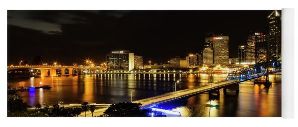 Jacksonville Skyline By Night Yoga Mat