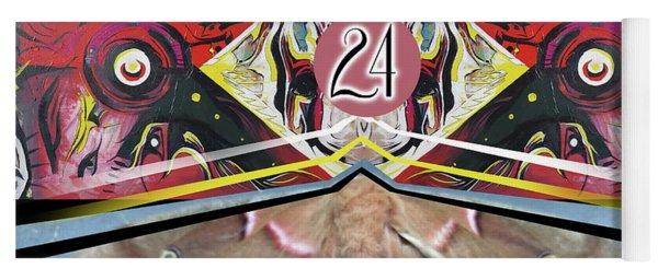 Yoga Mat featuring the painting Jagusawa 24 by John Jr Gholson