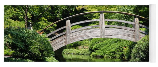 Yoga Mat featuring the photograph Japanese Garden Arch Bridge In Springtime by Debi Dalio