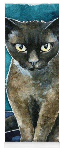 Joey - Devon Rex Cat Painting Yoga Mat