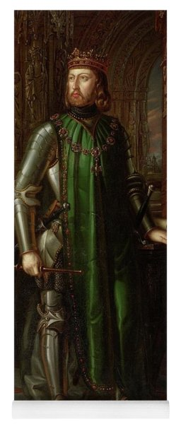 'john I Of Castile', 1848, Spanish School, Canvas, 222 Cm X 141 Cm, ... Yoga Mat