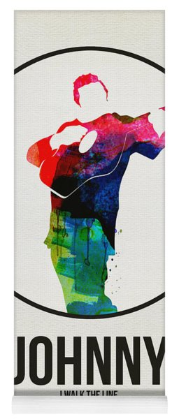 Johnny Cash Watercolor Yoga Mat
