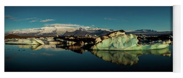 Jokulsarlon Lagoon, Iceland Yoga Mat
