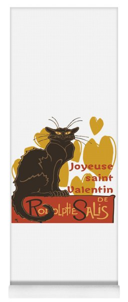Joyeuse Saint Valentin Le Chat Noir Parody Yoga Mat
