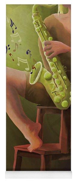 Joys Of The Saxophone Yoga Mat