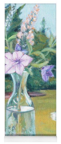 July Flowers Yoga Mat