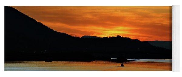 Juneau Alaska Sunset 2019 Yoga Mat