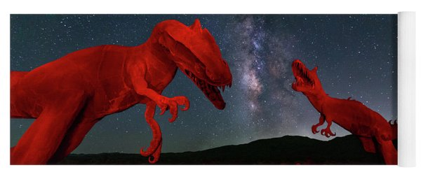 Yoga Mat featuring the photograph Jurassic by Tassanee Angiolillo