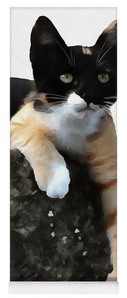 Just Chillin Tricolor Cat Yoga Mat