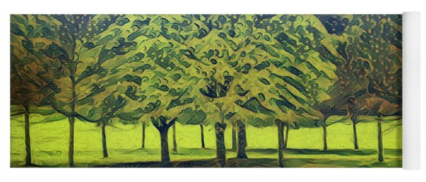 Yoga Mat featuring the photograph Just Trees by Leigh Kemp