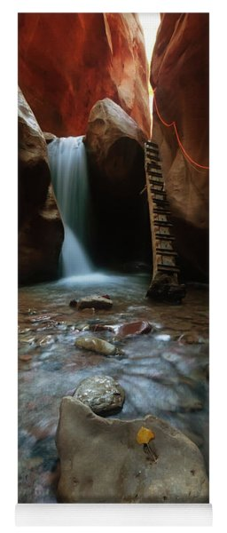 Yoga Mat featuring the photograph Kanarraville Falls by Tassanee Angiolillo