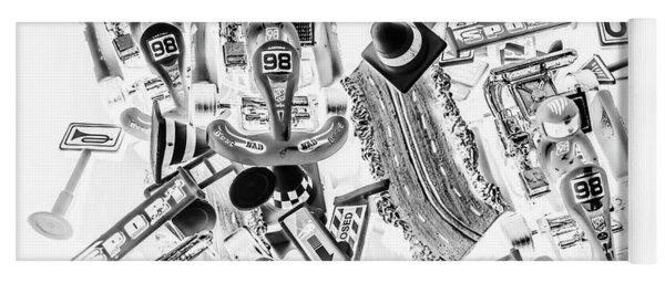 Kart Speedway Yoga Mat