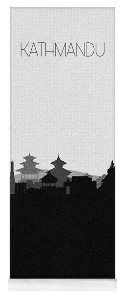 Kathmandu Cityscape Art Yoga Mat
