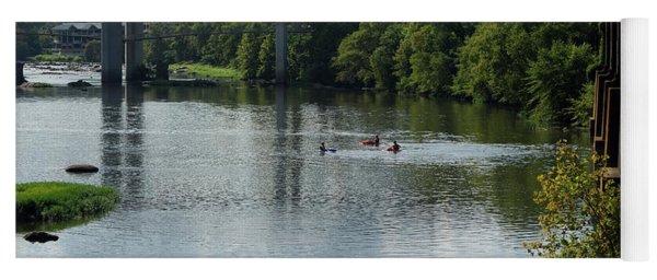 Kayaking On The James River Yoga Mat