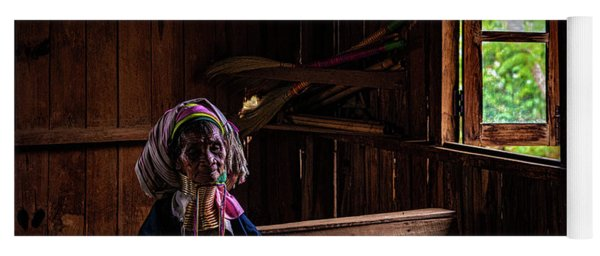 Kayan Woman In Ancient Church Yoga Mat