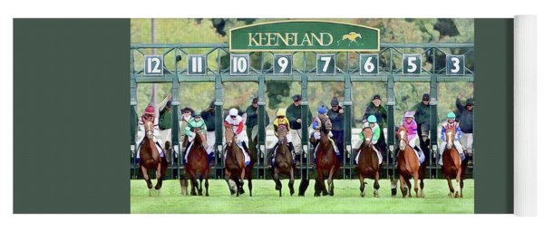 Keeneland Starting Gate Yoga Mat