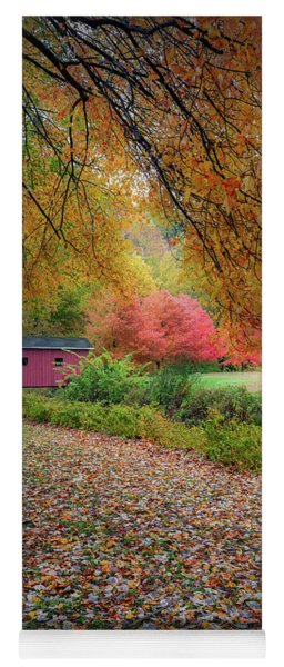 Yoga Mat featuring the photograph Kent Falls Covered Bridge by Bill Wakeley