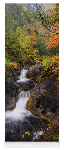 Yoga Mat featuring the photograph Kent Falls Foliage 2 by Bill Wakeley