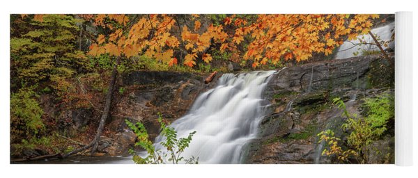 Yoga Mat featuring the photograph Kent Falls Foliage 3 by Bill Wakeley