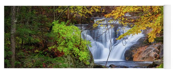 Yoga Mat featuring the photograph Kent Falls Foliage Square by Bill Wakeley