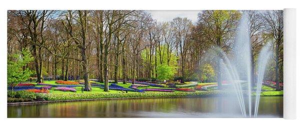 Keukenhof Tulip Garden Holland Yoga Mat