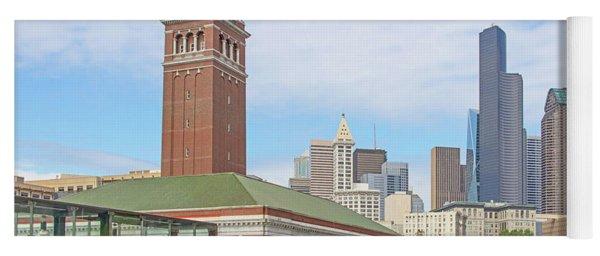 King Street Station Clock Tower Seattle Washington R1421 Yoga Mat