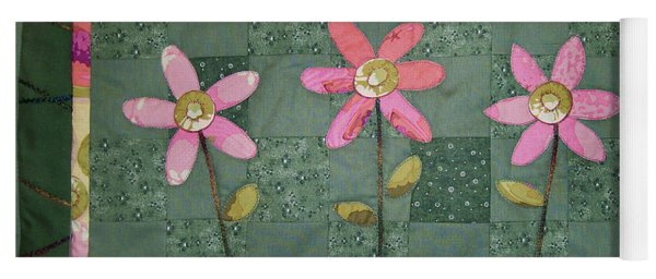 Kiwi Flowers Yoga Mat