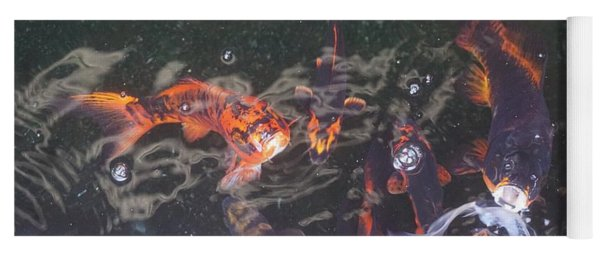 Yoga Mat featuring the photograph Koi In A Pond by Jimmy Clark