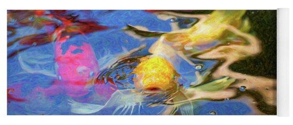 Koi Pond Fish - Friendly Enemies - By Omaste Witkowski Yoga Mat
