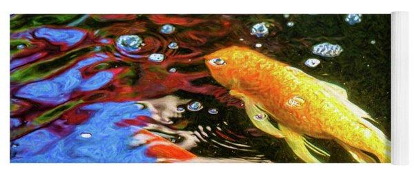 Koi Pond Fish - Glamorous Surprises - By Omaste Witkowski Yoga Mat