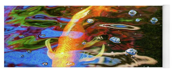 Koi Pond Fish - Golden Abstracts - By Omaste Witkowski Yoga Mat