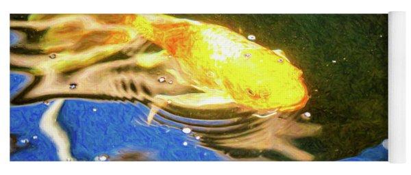 Koi Pond Fish - Golden Dreaming - By Omaste Witkowski Yoga Mat